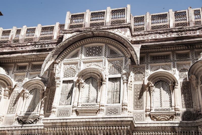 Mehrangarh fort i Jodhpur i Indien arkivfoton
