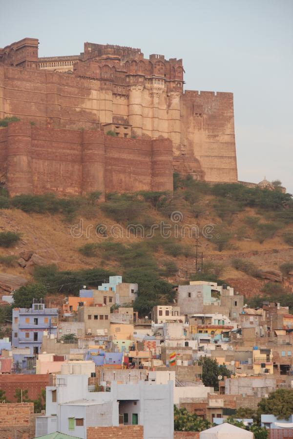 The Mehrangarh fort of Jodhpur royalty free stock photography