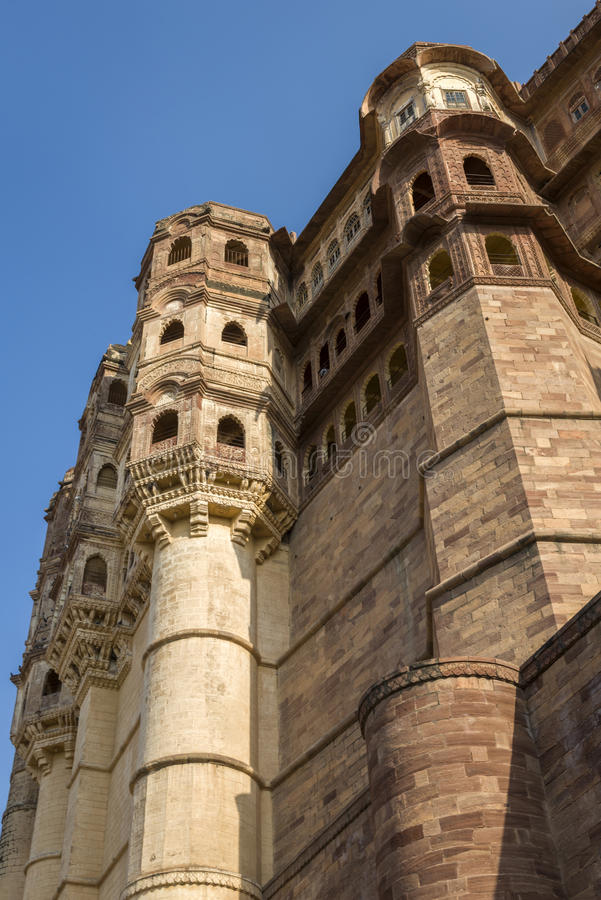 Download Mehrangarh Fort Walls In Jodhpur, Rjasthan, India Stock Image - Image: 28482789