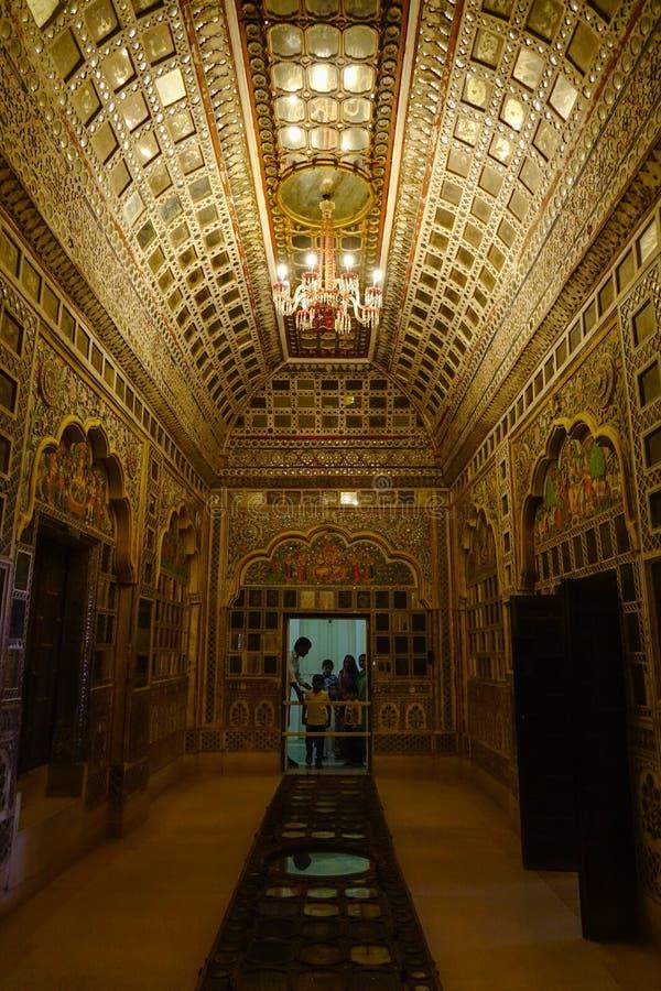Mehrangarh fortu muzeum w Jodhpur, India zdjęcie stock