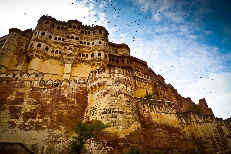 Mehrangarh fortu ramparts horyzontalni fotografia royalty free