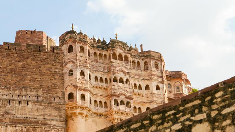 Mehrangarh or Mehran Fort in Jodhpur, Rajasthan, India royalty free stock photography
