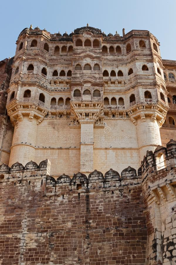 Mehrangarh Mehran Fort, one of the largest forts in India stock photo