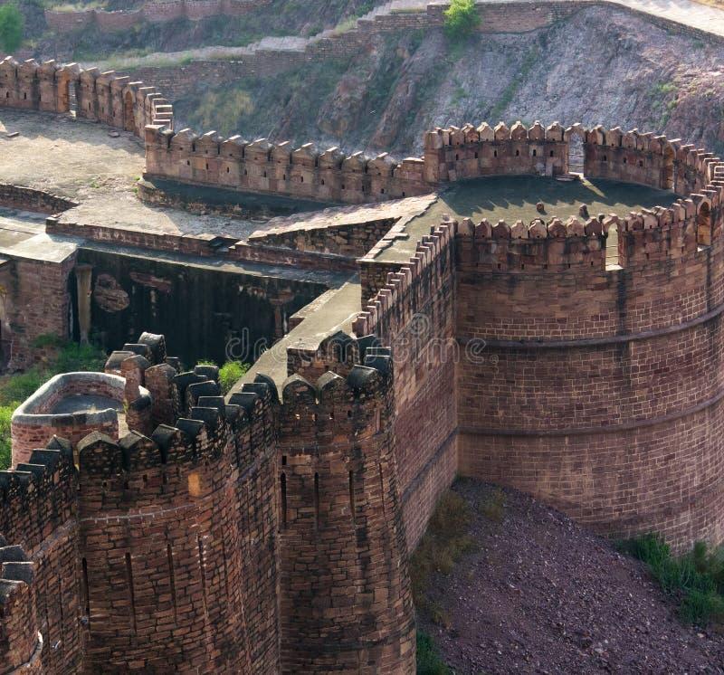 Mehrangarhfort in Jodhpur, India royalty-vrije stock foto