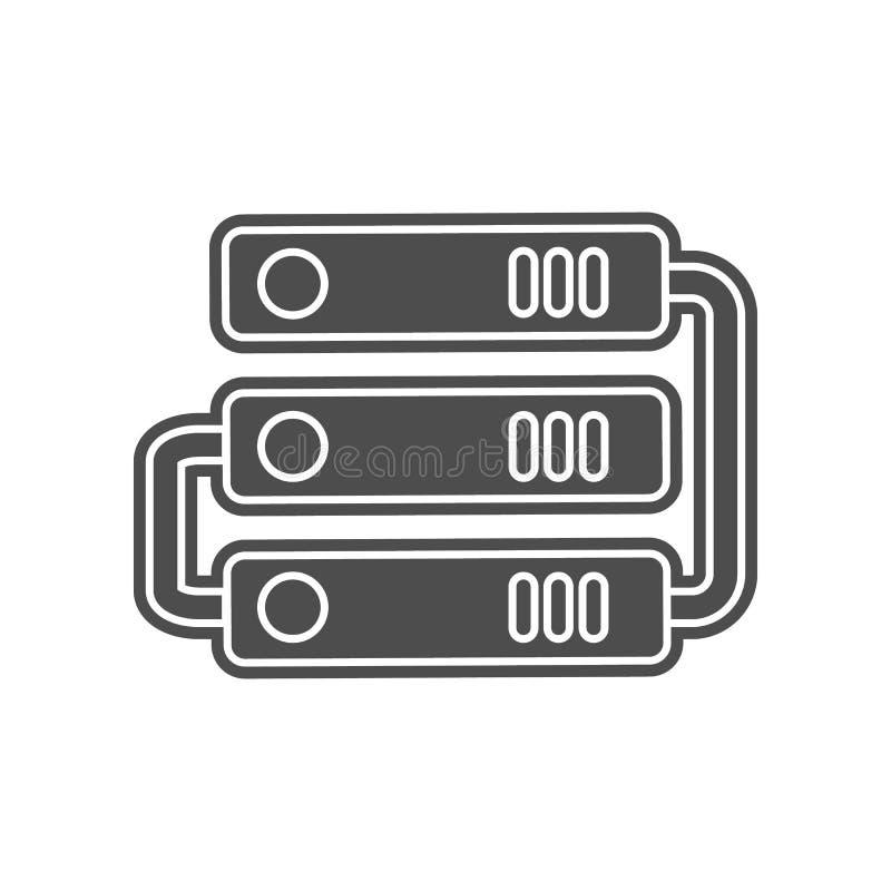 mehrfache Browser Windowe Ikone Element von minimalistic f?r bewegliches Konzept und Netz Appsikone Glyph, flache Ikone f?r Websi lizenzfreie abbildung