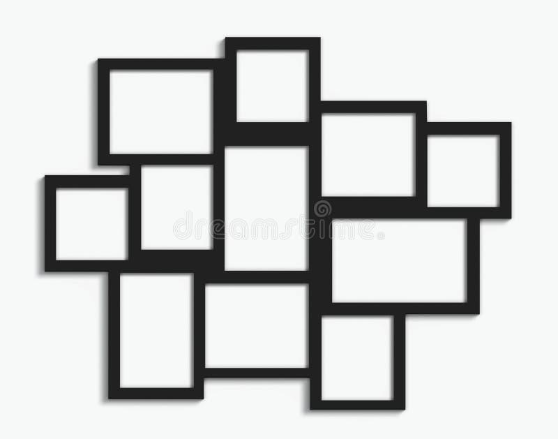 Mehrfache Rahmen vektor abbildung