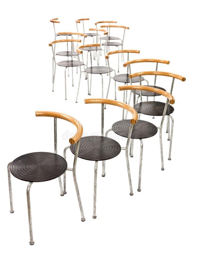 Mehrfache Stühle lizenzfreies stockbild