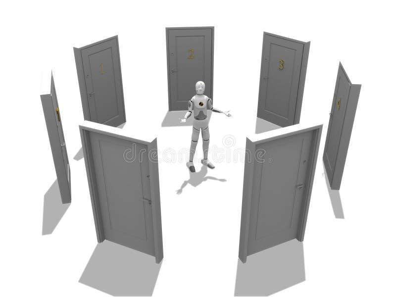 Mehrfache Türen vektor abbildung