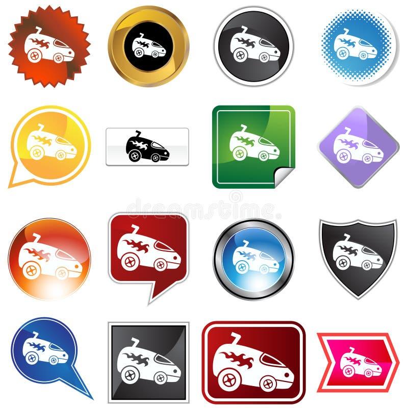 Mehrfache Tasten - Racecar stock abbildung