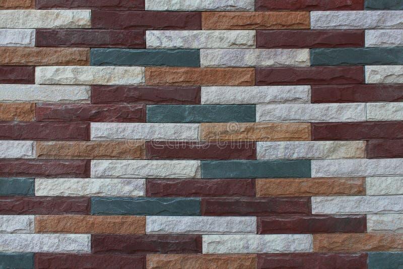Mehrfarbenbacksteinmauer für Muster stockfoto