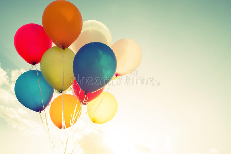 Mehrfarbenballone lizenzfreie stockfotografie