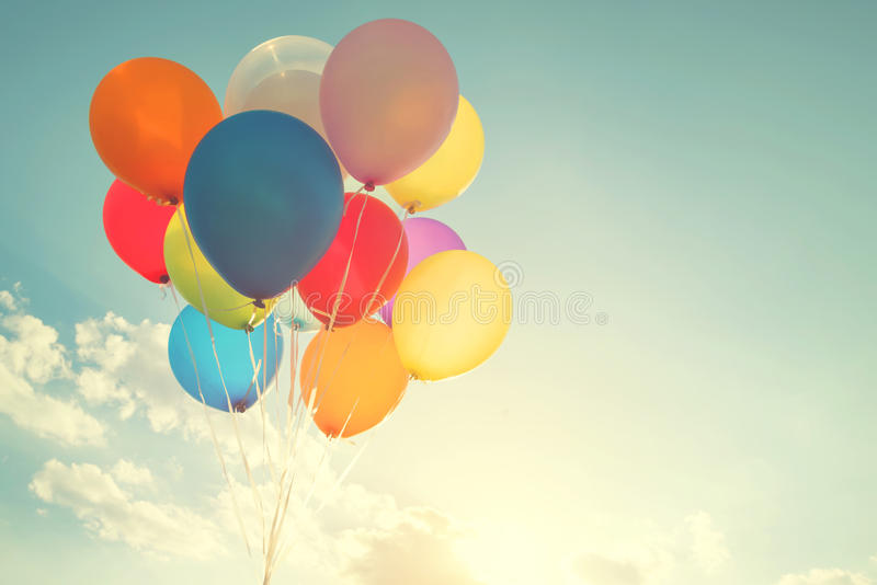 Mehrfarbenballone lizenzfreies stockbild