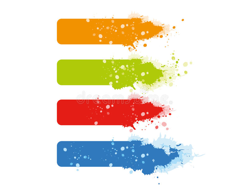 Mehrfarbengrunge Fahnen. vektor abbildung