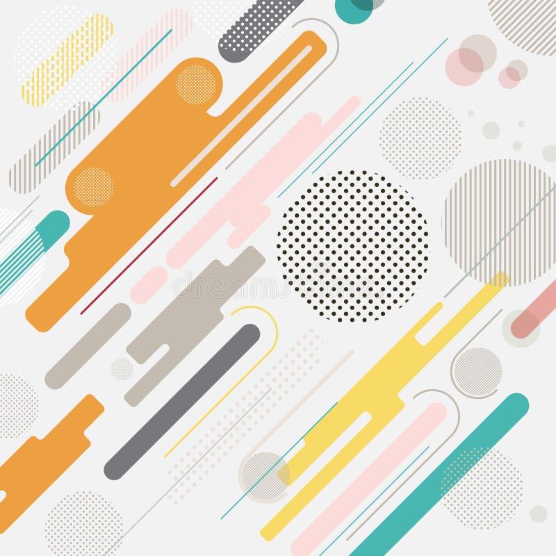 Mehrfarbenhintergrund des abstrakten geometrischen dynamischen Elements, stock abbildung