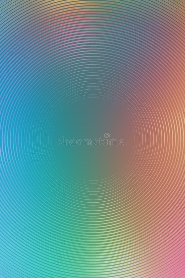 Mehrfarbenhintergrund des abstrakten Steigungsradialstrahls Grafische Tapete lizenzfreie abbildung