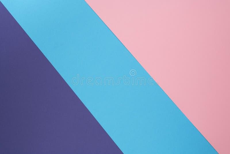 Mehrfarbenhintergrund machte von der Pastellpapierfarbe Kreativer Plan des bunten Hintergrundes für Entwurf Flache Lage stockbild