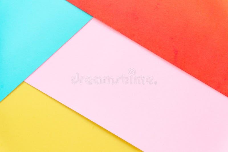 Mehrfarbenhintergrund von einem Papier von verschiedenen Farben lizenzfreies stockbild