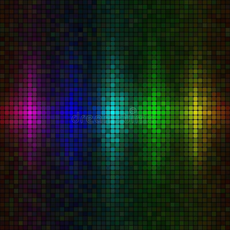 Mehrfarbenleuchtehintergrund vektor abbildung