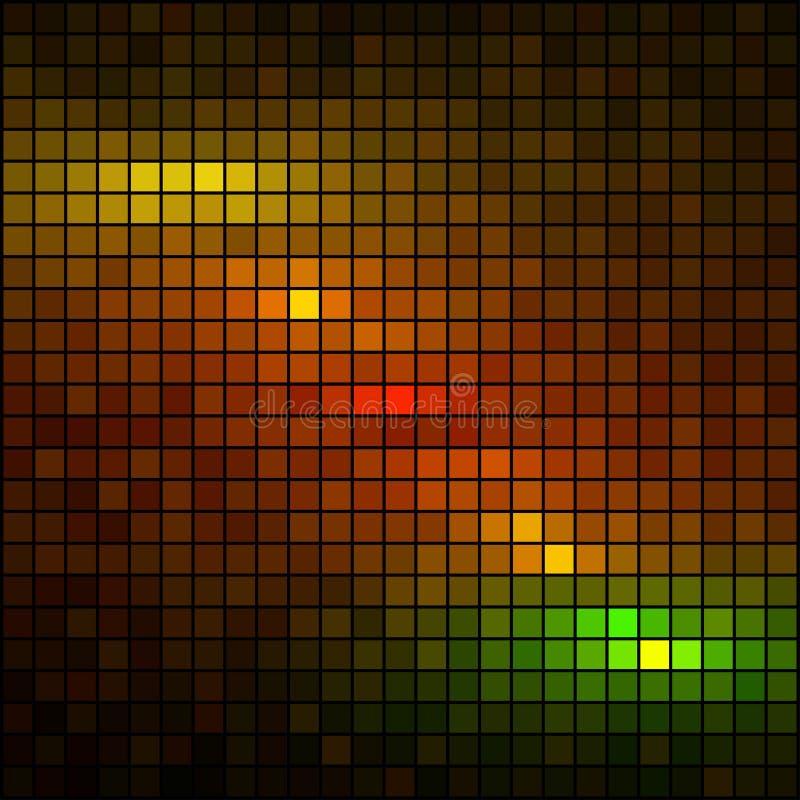 Mehrfarbenleuchtemosaik lizenzfreie abbildung