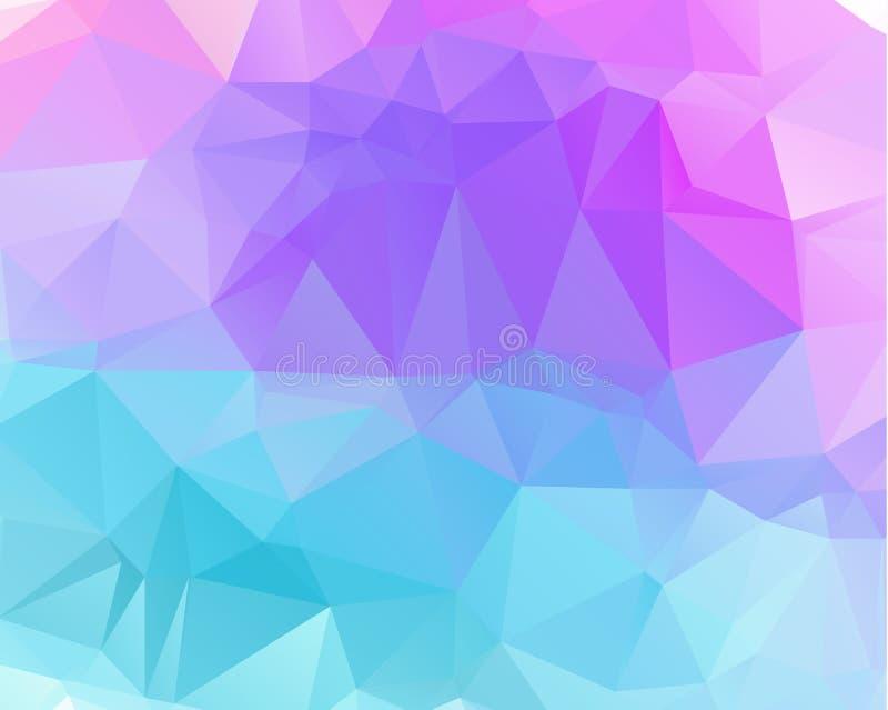 Mehrfarbenpurpur, rosa polygonale Illustration lizenzfreie abbildung