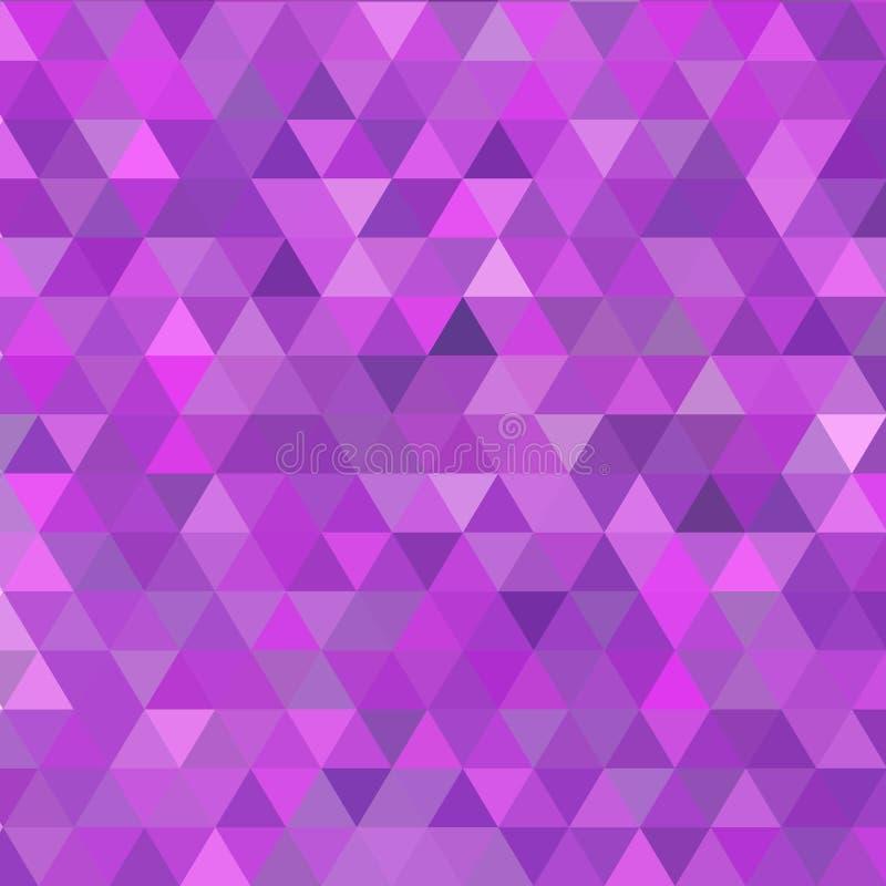 Mehrfarbenpurpur, rosa polygonale Illustration, die aus Dreiecken bestehen Geometrischer Hintergrund in der Origamiart mit lizenzfreie abbildung