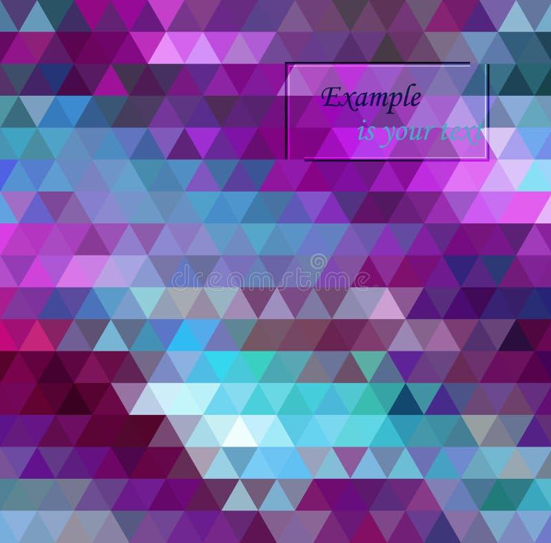 Mehrfarbenpurpur, rosa polygonale Illustration, die aus Dreiecken bestehen vektor abbildung