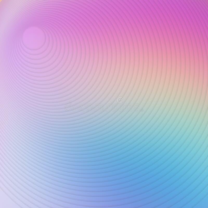 Mehrfarbenradialhintergrund der abstrakten Kunst grafisches Rundschreiben stock abbildung