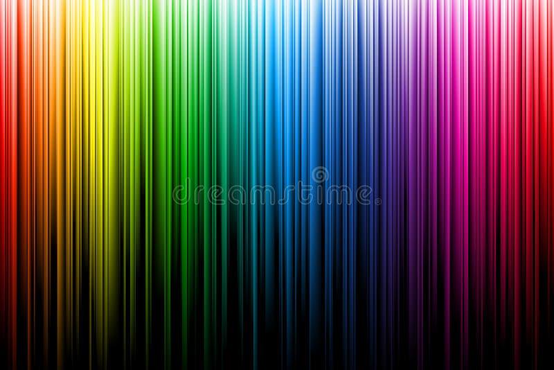 Mehrfarbenregenbogenstrahlen lizenzfreie abbildung
