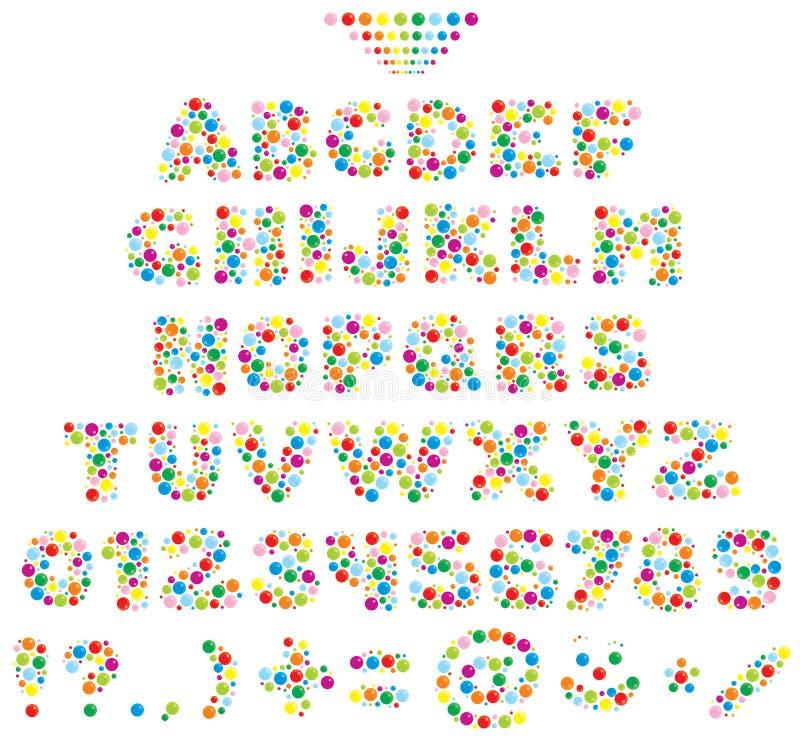 Mehrfarbenschrifttyp für Kinder vektor abbildung