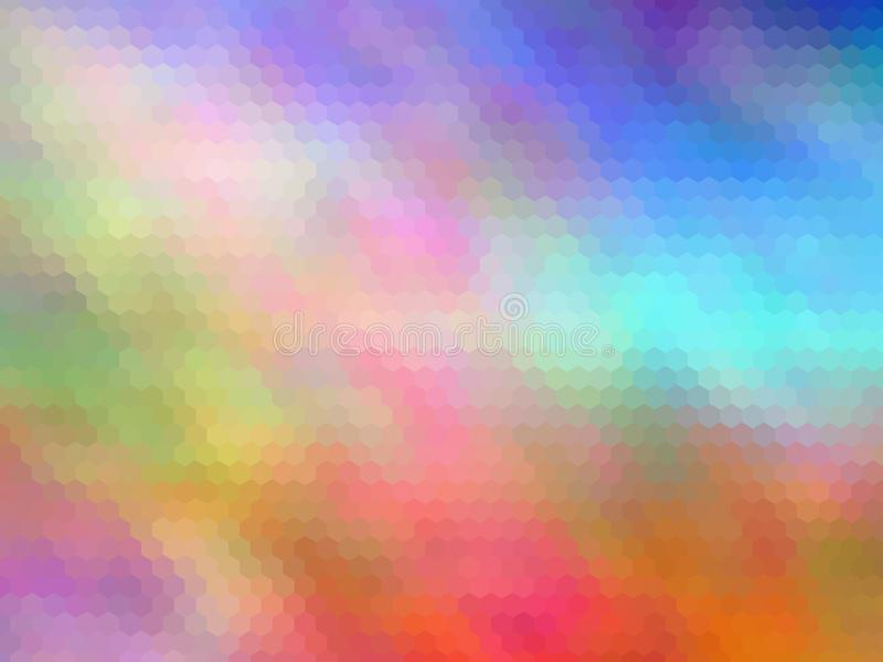 Mehrfarbensechseckig pixeled abstrakter Hintergrund lizenzfreie abbildung
