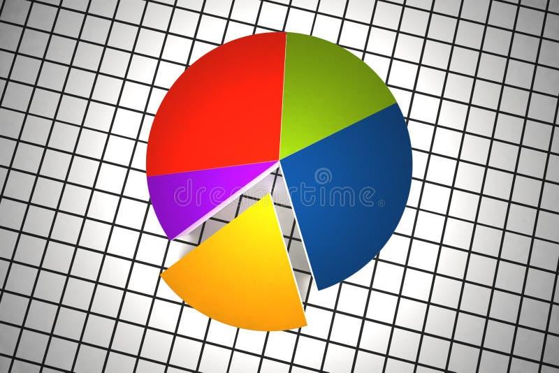 Mehrfarbenstatistiken stock abbildung