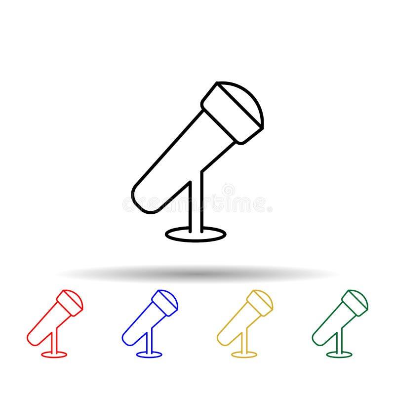 Mehrfarbensymbol für Desktop-Mikrofon Einfache dünne Linie, Konturvektor Vektor von Web-Icons für ui und ux, Website oder mobile stock abbildung