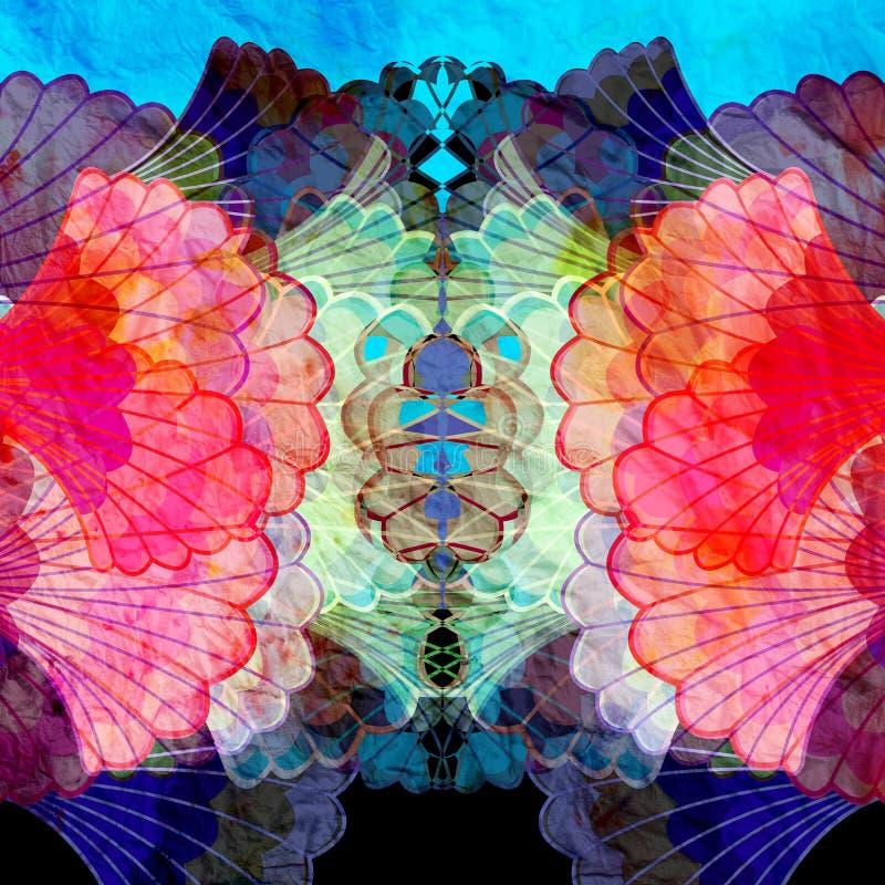 Mehrfarbige abstrakte Elemente des Aquarells vektor abbildung