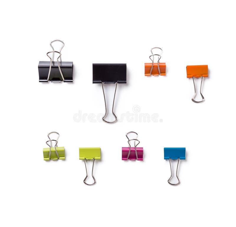 Mehrfarbige Büroklammern lizenzfreie stockfotos