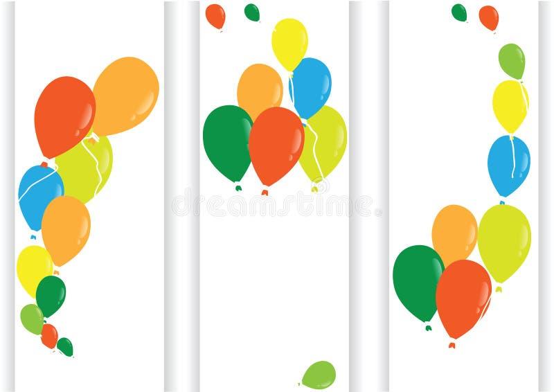 Mehrfarbige Ballone des Vektors vektor abbildung