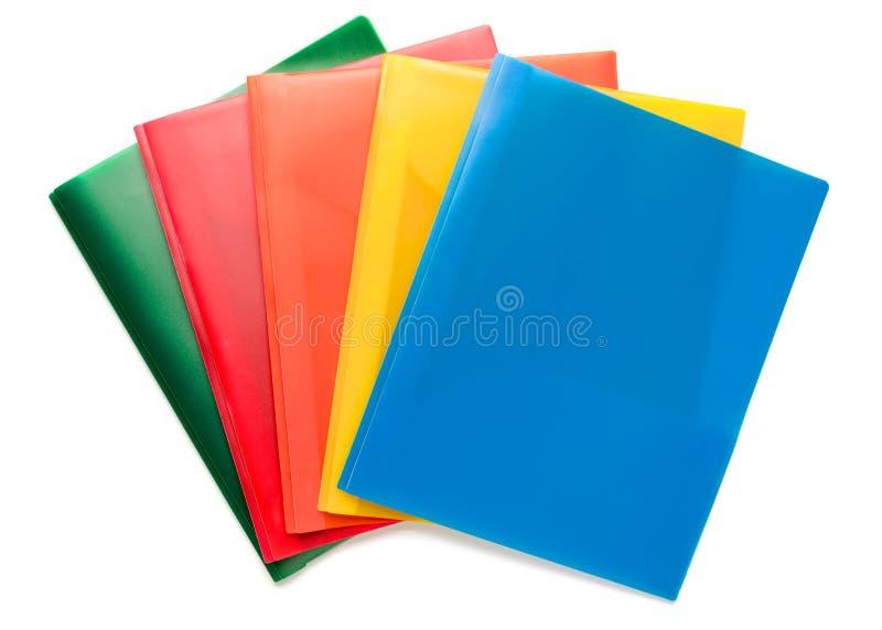 Mehrfarbige Dokumenten-Ordner stockbilder