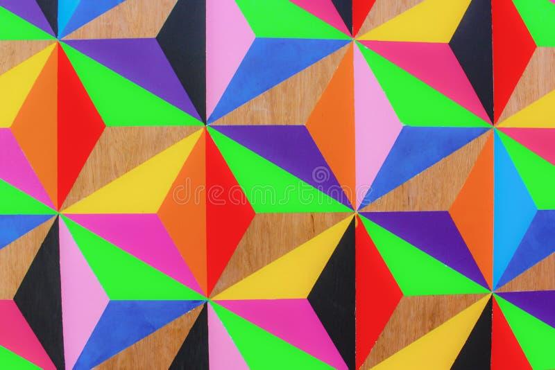 Mehrfarbige Dreiecke lizenzfreie stockfotos