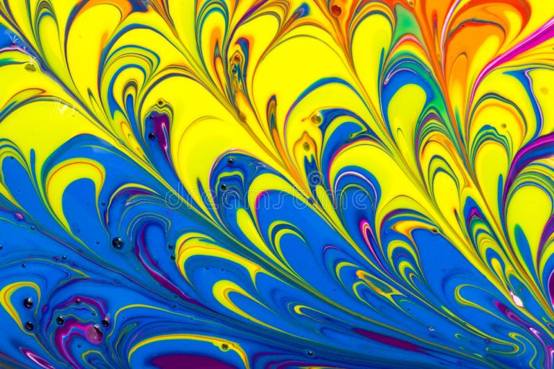 Mehrfarbige flüssige Farbe der Zusammenfassung wirbelt Hintergrund lizenzfreie abbildung