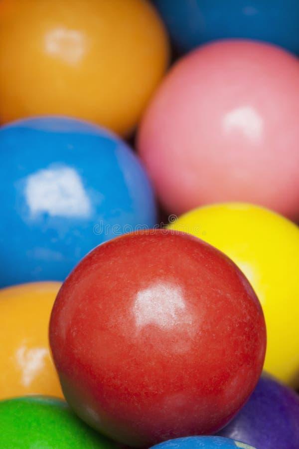 Mehrfarbige gumballs stockbilder