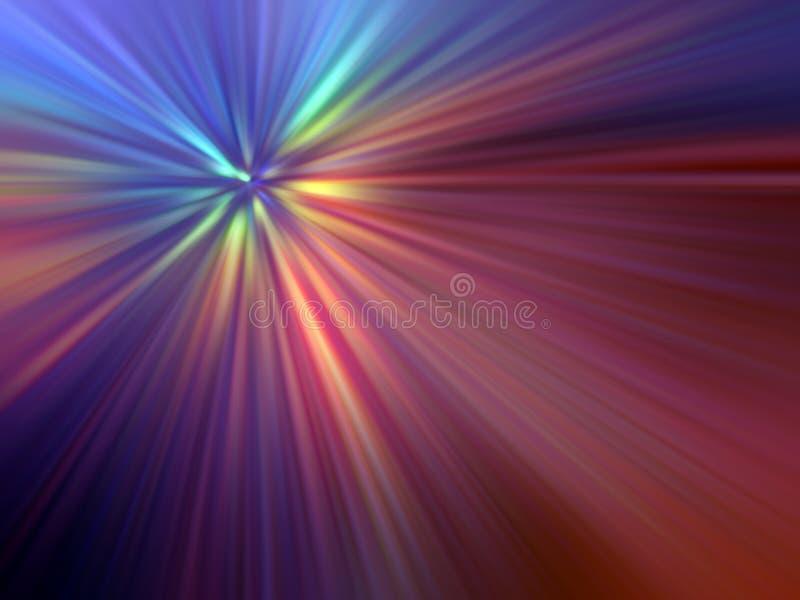 Mehrfarbige helle Strahlen lizenzfreie abbildung