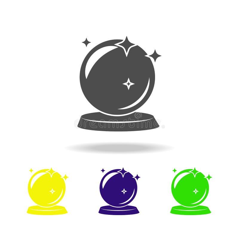 mehrfarbige Ikone des magischen Balls Element der populären magischen Ikone Zeichen und Symbolikone können für Netz, Logo, mobile stock abbildung