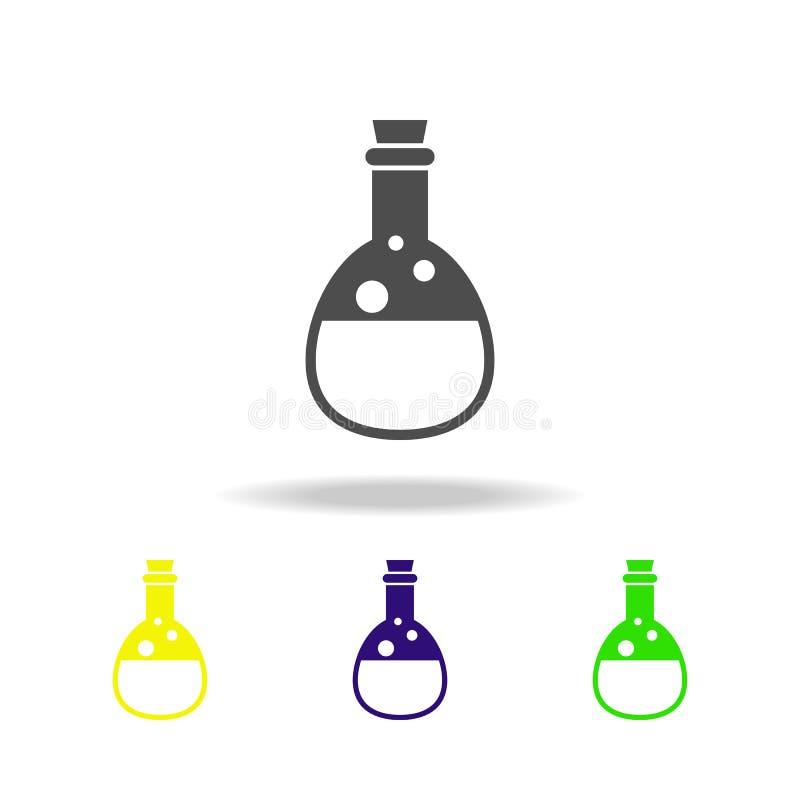 mehrfarbige Ikone des Tranks Element der Geistelementillustration Zeichen und Symbolikone können für Netz, Logo, mobiler App, UI  lizenzfreie abbildung