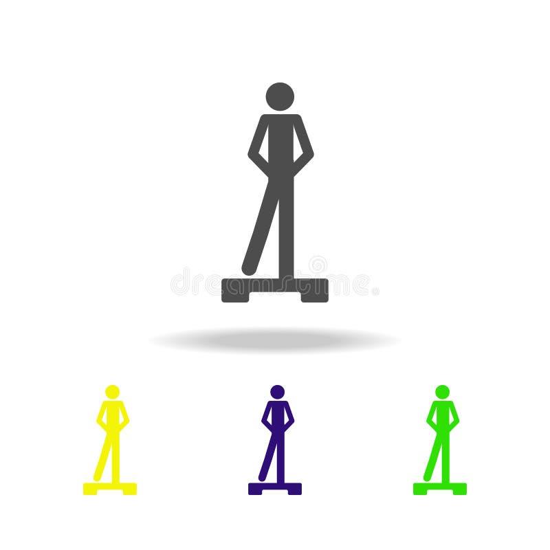 mehrfarbige Ikonen der Eignungsübung Element von mehrfarbigen Ikonen des Sports kann für Netz, Logo, mobiler App, UI, UX benutzt  stock abbildung