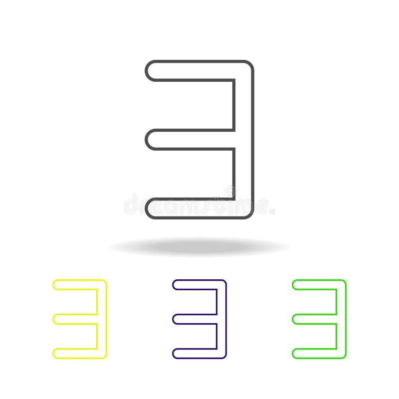 mehrfarbige Ikonen e-Rückseite Dünne Linie Ikone für Websiteentwurf und Appentwicklung Erstklassige farbige Netzikone mit Schatte vektor abbildung