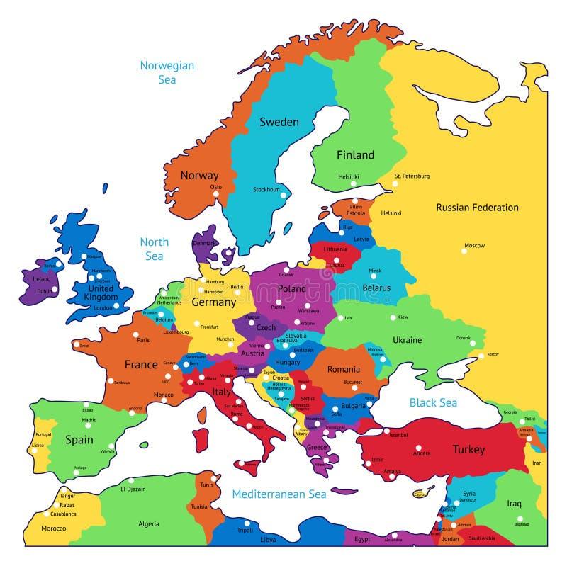 Europa Karte Mit Namen Stockfoto Bild Von Ostlich Kugeln 17161872