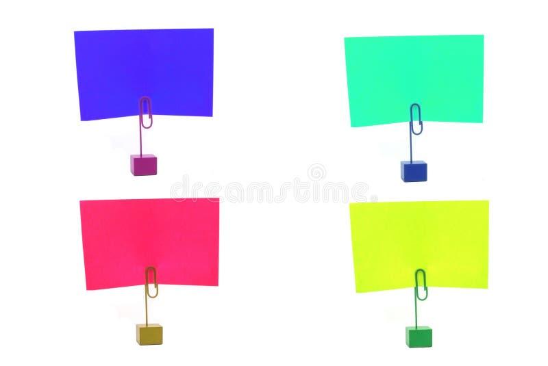 Mehrfarbige Kartenhalter lizenzfreies stockbild