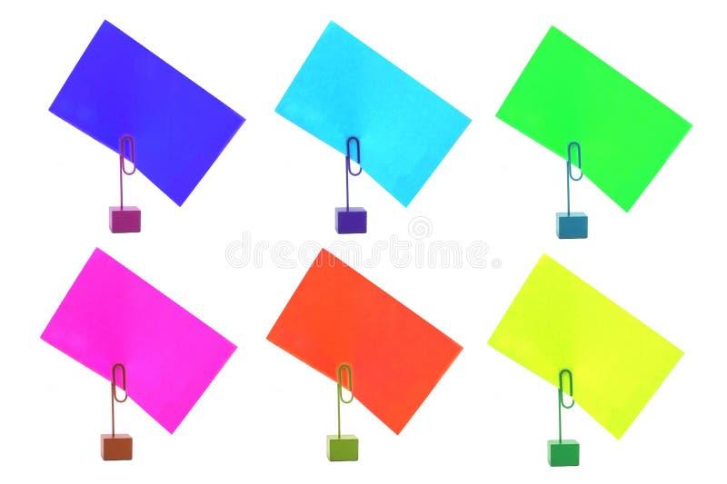 Mehrfarbige Kartenhalter lizenzfreie stockfotografie