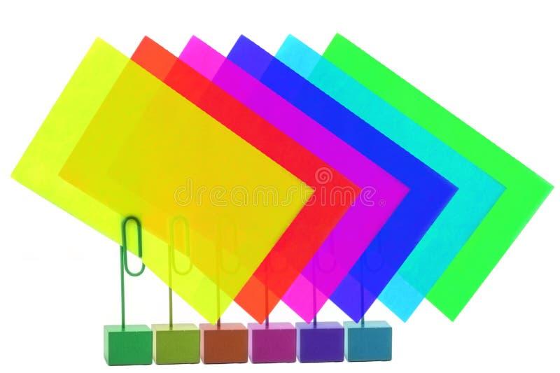 Mehrfarbige Kartenhalter lizenzfreie stockbilder