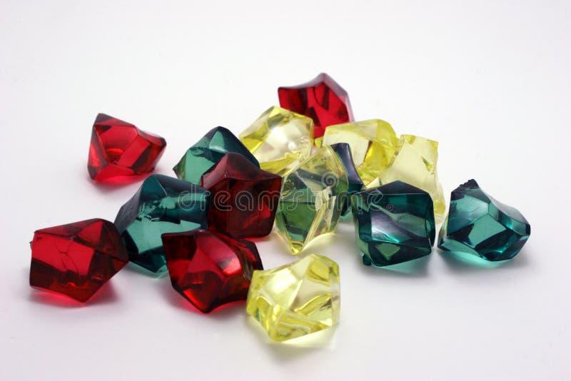 Mehrfarbige Kristalle lizenzfreies stockbild