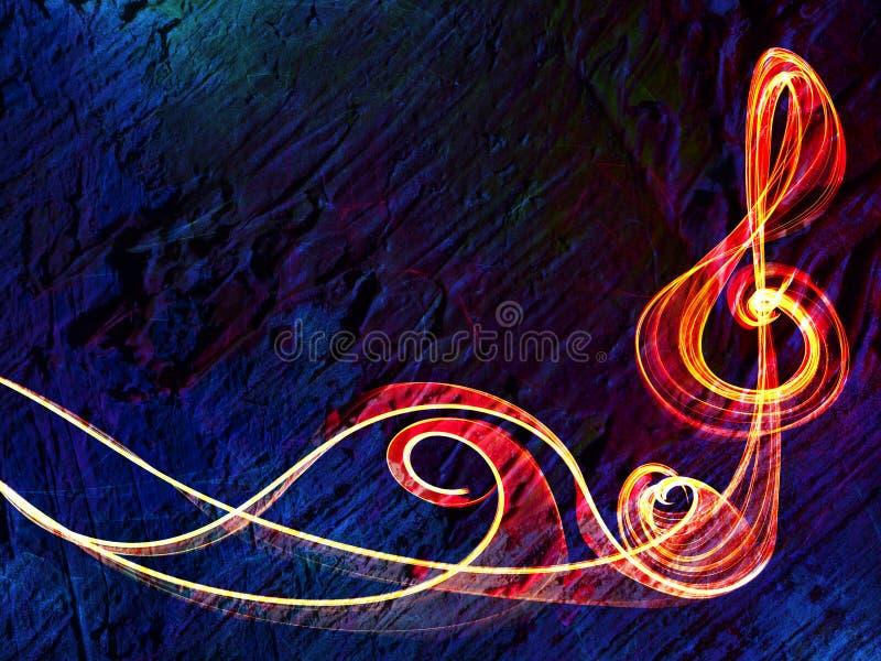 Mehrfarbige Linie Musikzeichen-Hintergrundrahmen vektor abbildung
